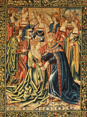 A Tournai Tapestry In Wools And Silks Depicting A Royal Marriage. Circa 1520.